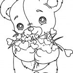 Flower Bear Coloring Page