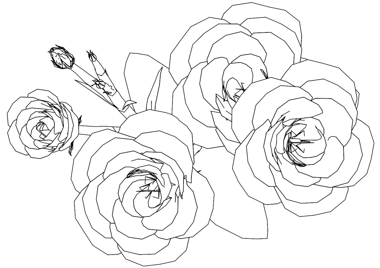 Flower Roses Coloring Page | Wecoloringpage.com