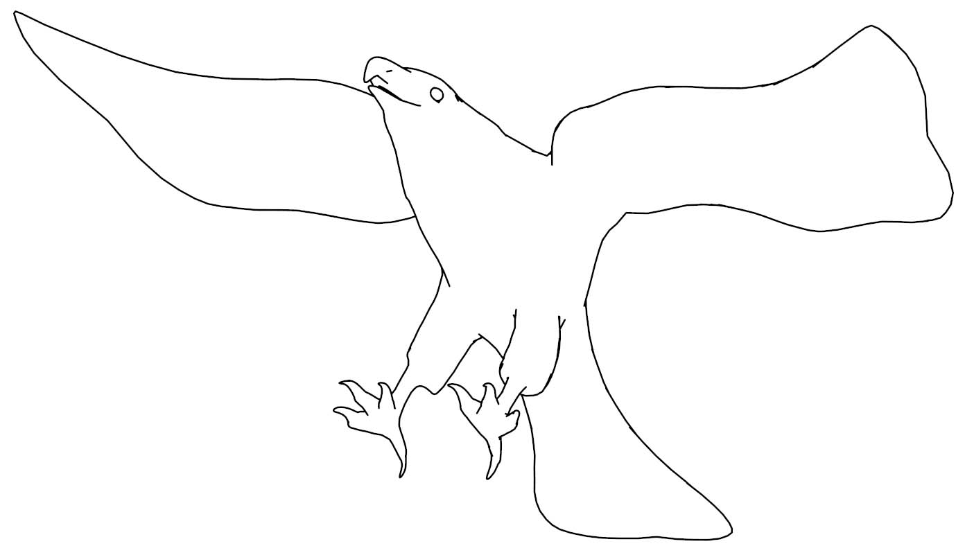 Fly Eagle Coloring Page