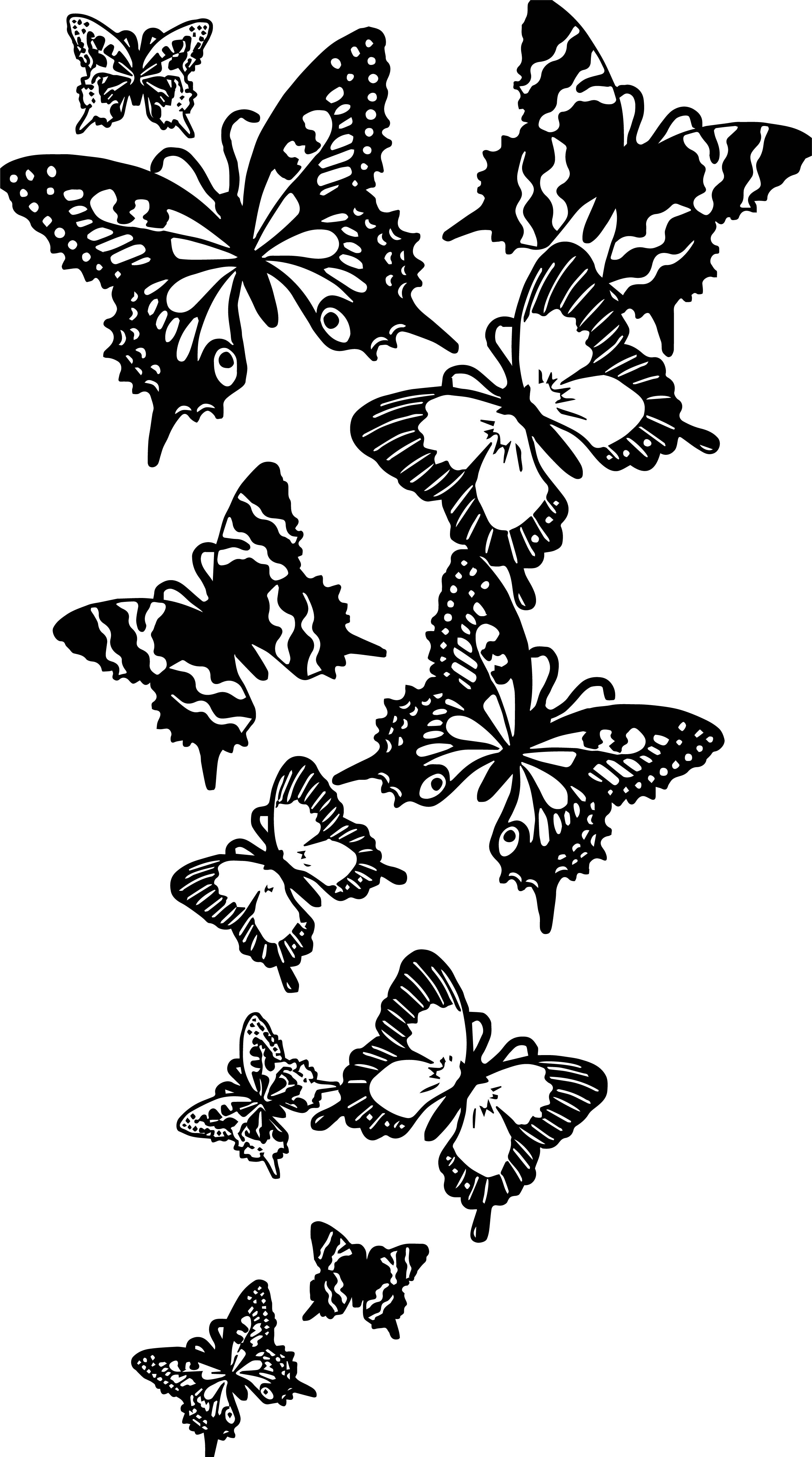 Flying Butterfly Coloring Page