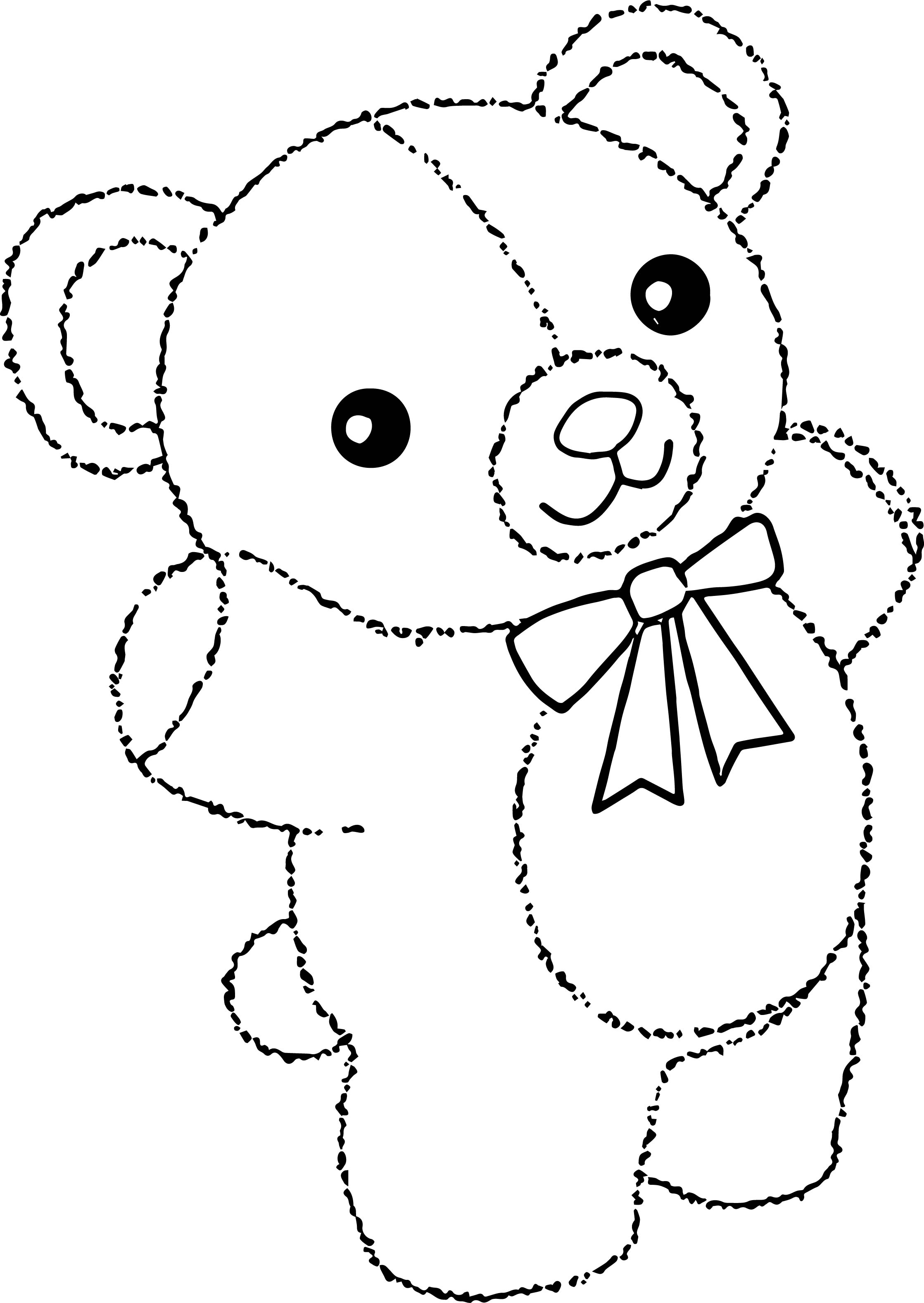 For Bear Coloring Page