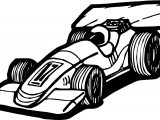 Formula Car Race Coloring Page