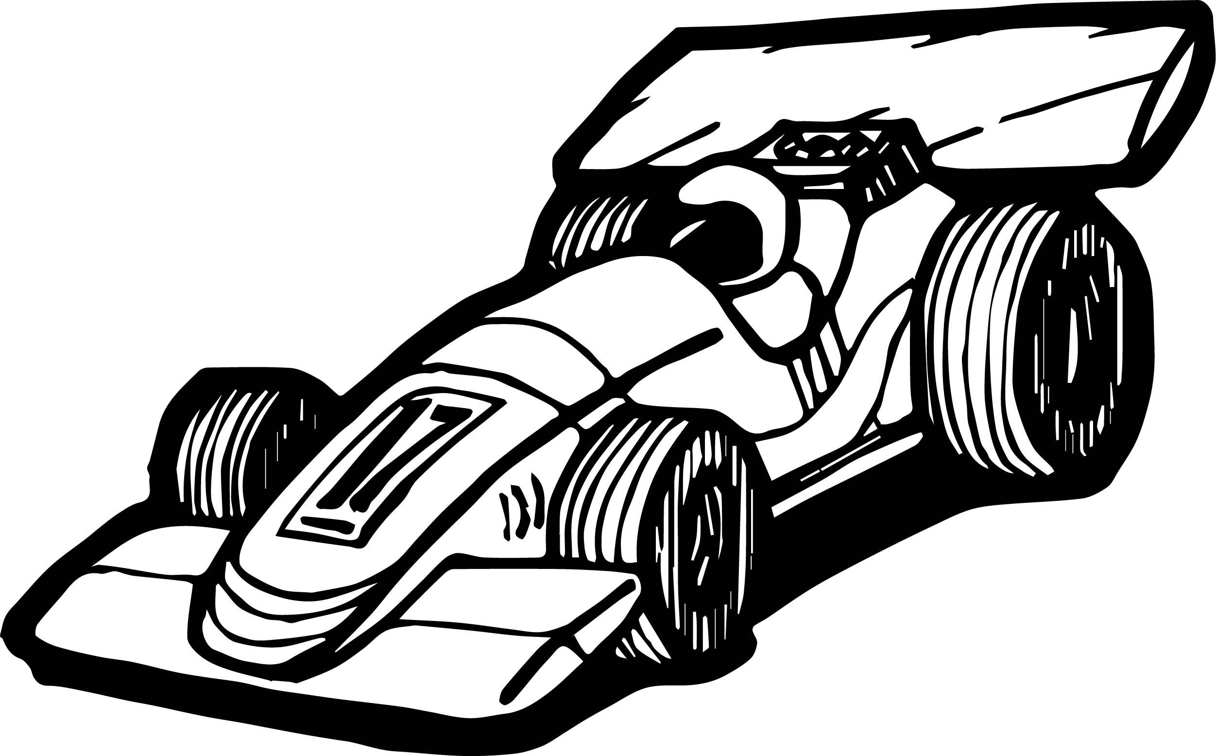 Formula Car Race Coloring Page