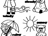 Four Weather Bear Coloring Page