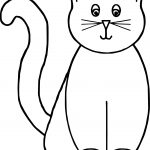 Front Cat Coloring Page