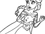 Frozen Elsa Escape Coloring Page