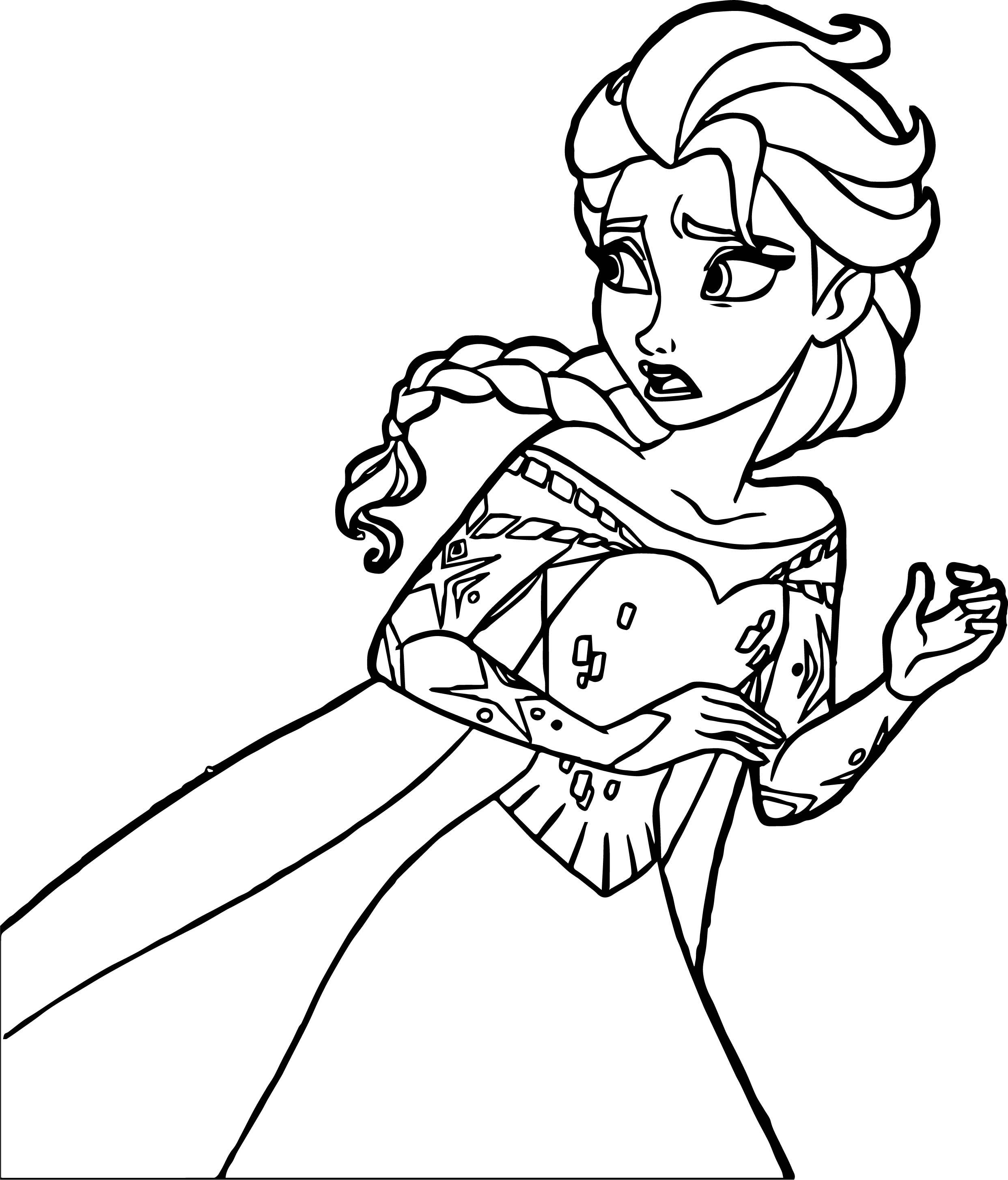 Frozen Elsa Escape Coloring Page