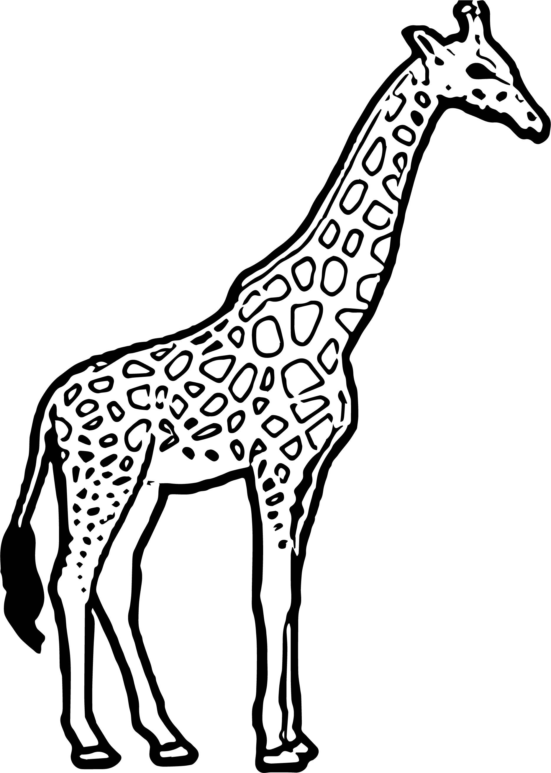 Giraffe Thirsty Coloring Page