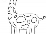Giraffe Wait Coloring Page