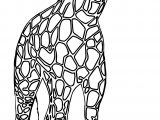 Giraffe Waiting Coloring Page
