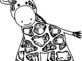 Giraffe What Coloring Page