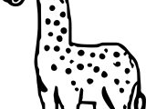 Giraffe Wonderful Coloring Page
