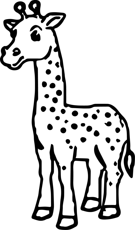 Giraffe Wonderful Coloring Page
