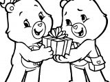 Girl Bear Want Gift Bear Coloring Page