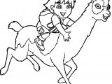 Go Diego Go And Lama Coloring Page