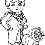 Go Diego Go And Lion Cold Weather Coloring Page