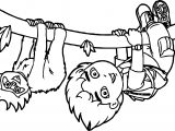 Go Diego Go And Monkey Coloring Page