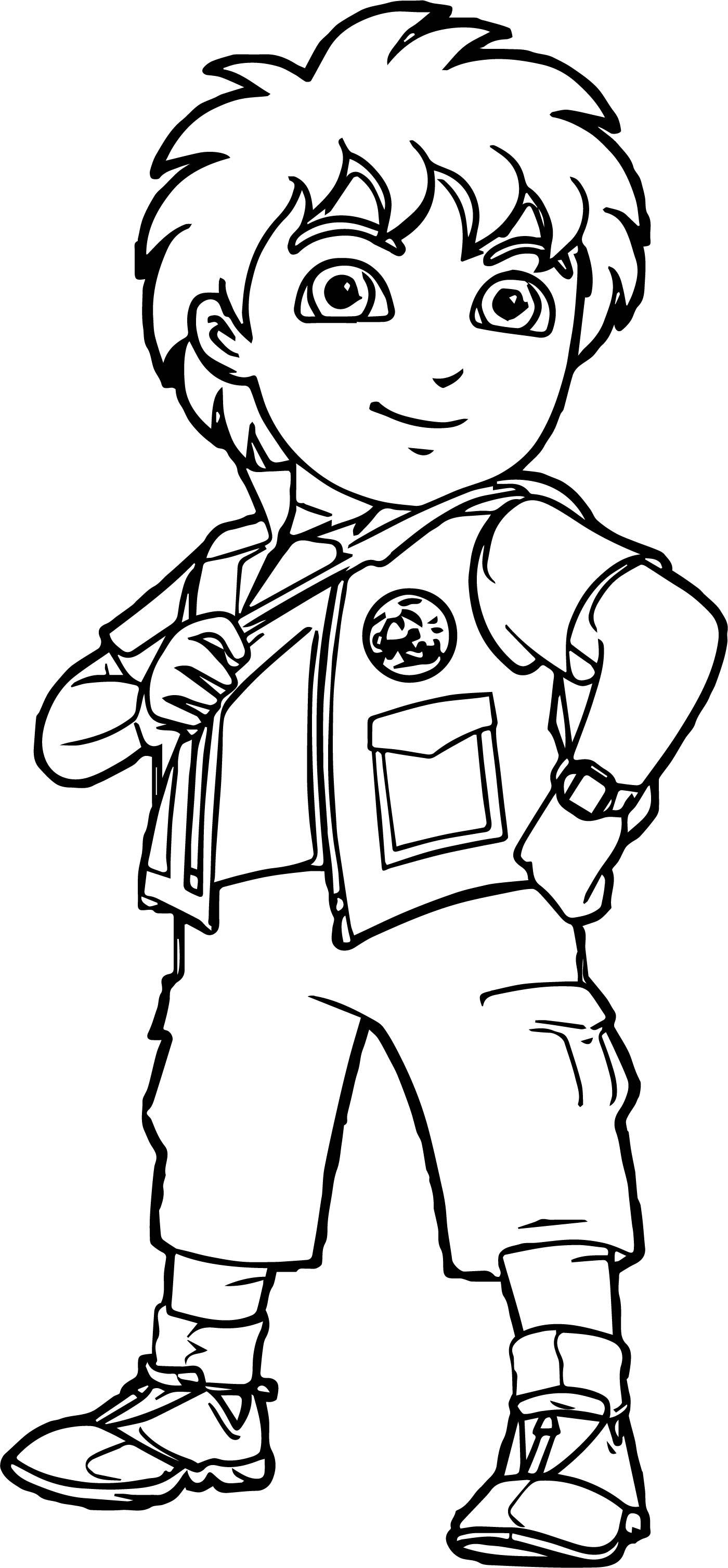 Go Diego Go Boy Pose Coloring Page