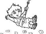 Go Diego Go Climb Mountain Coloring Page