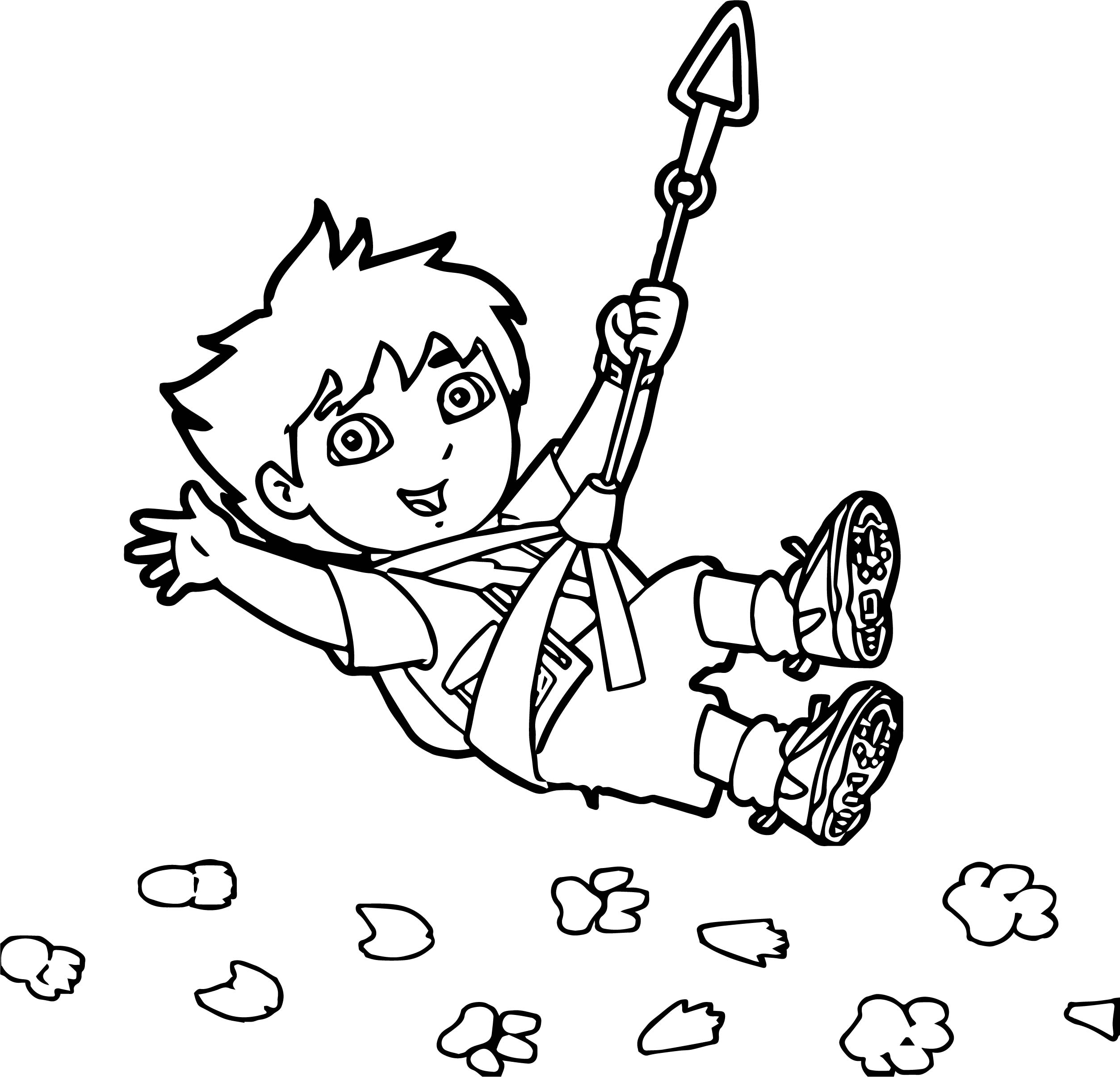 Go Diego Go Climb Mountain Coloring Page | Wecoloringpage.com