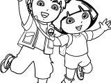 Go Diego Go Dora Boy Girl Coloring Page