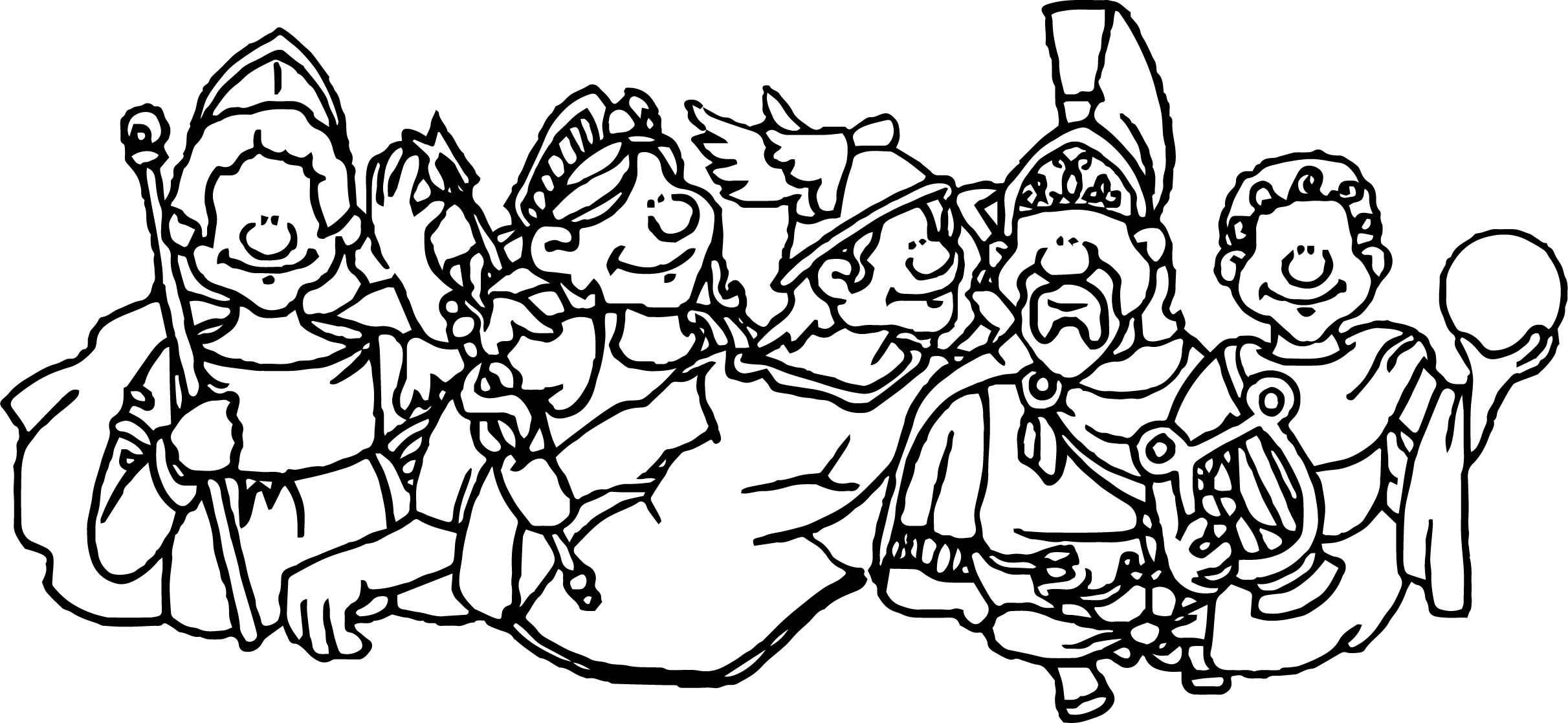 Go Greek Gods And Goddesses Coloring Page
