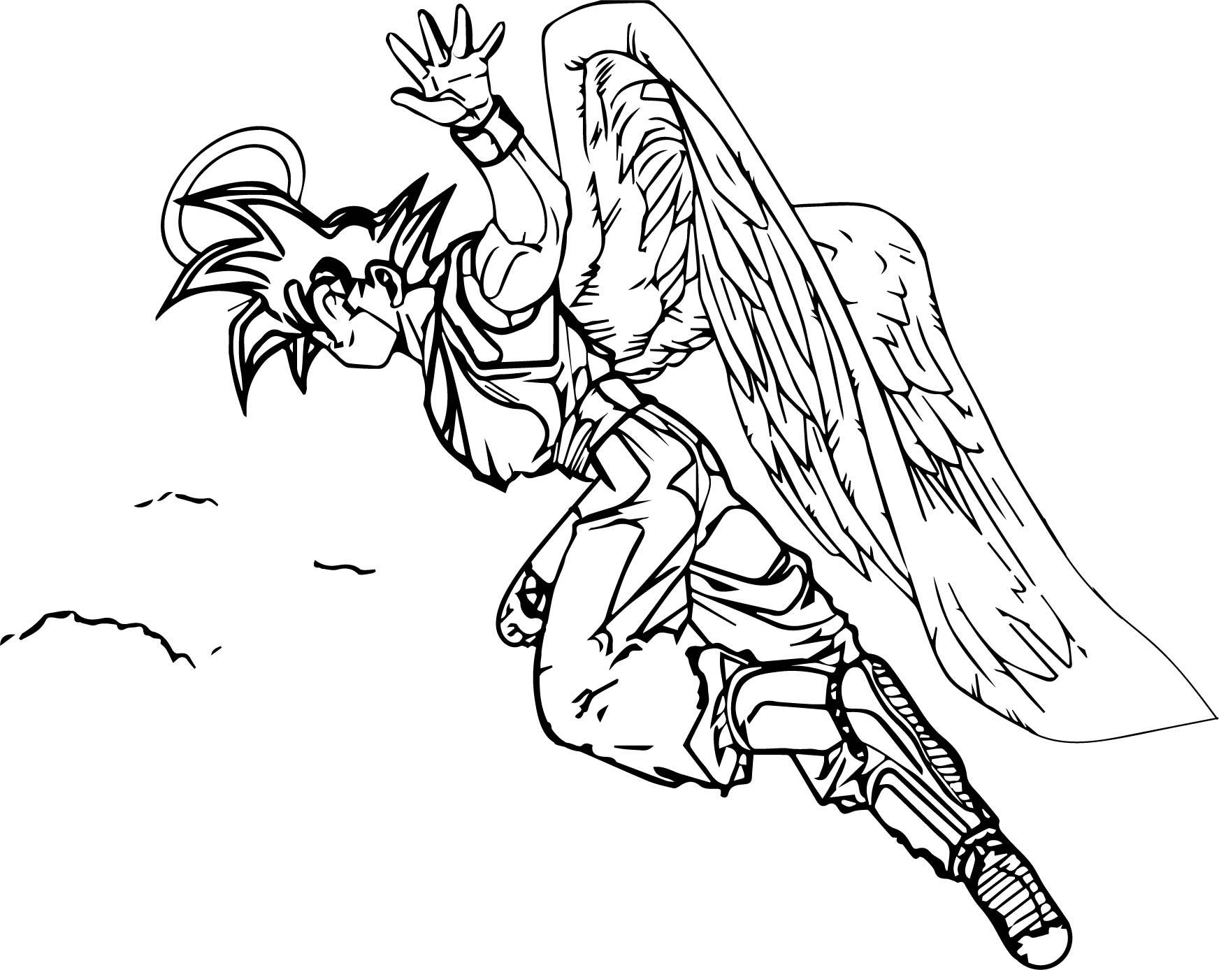 Goku Angel Coloring Page