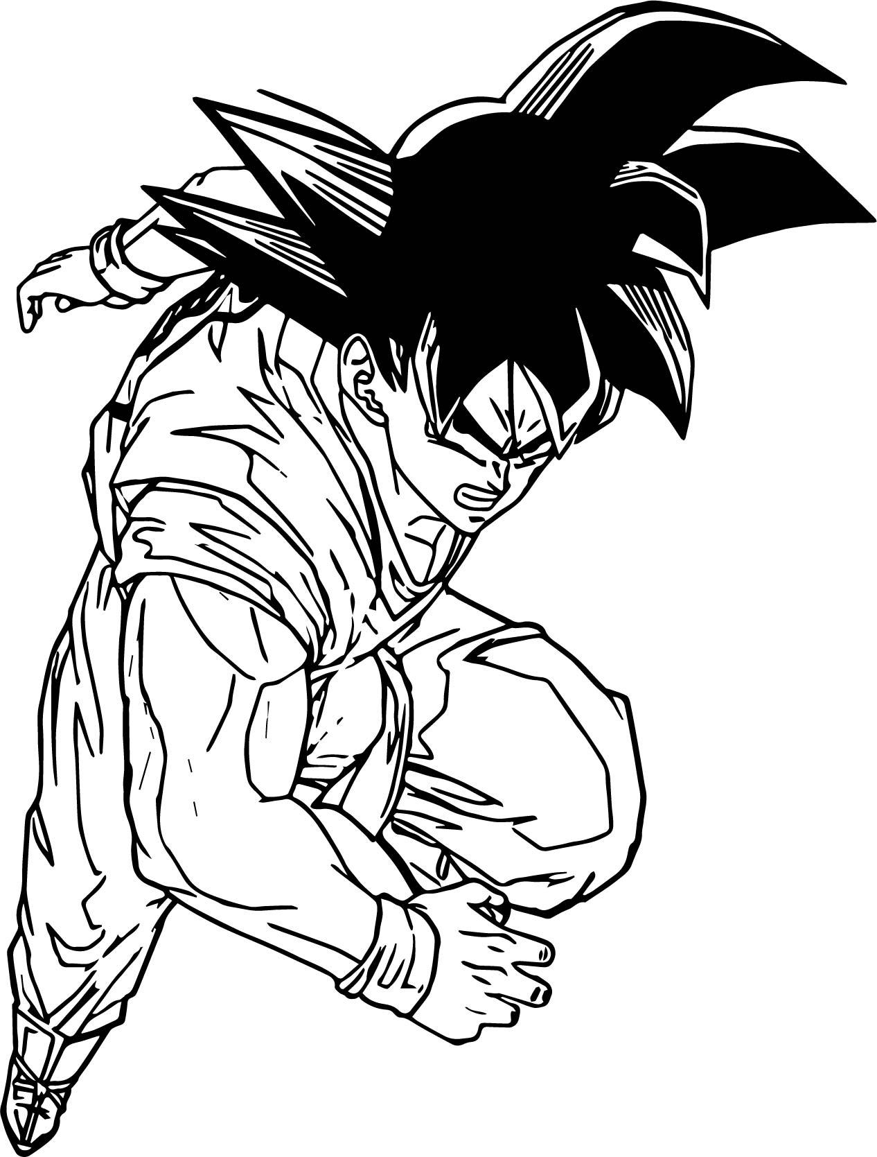 Goku Angry Coloring Page