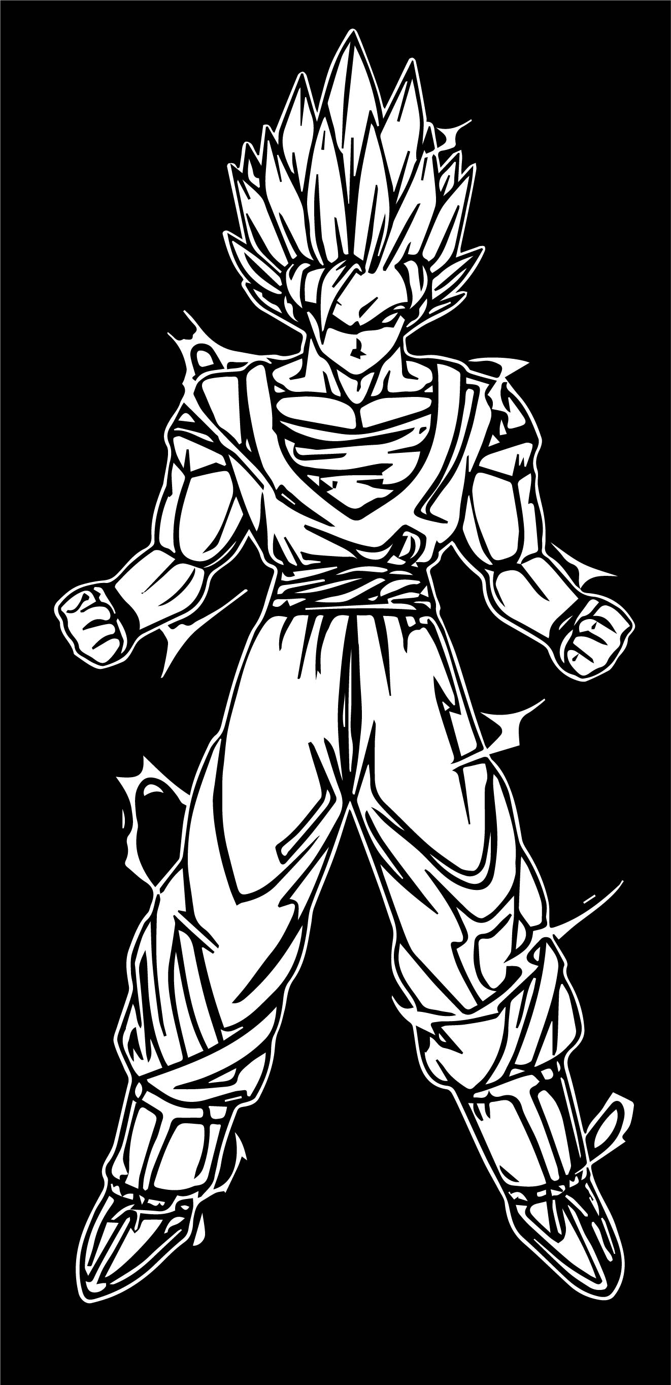 Goku Black Background Coloring Page