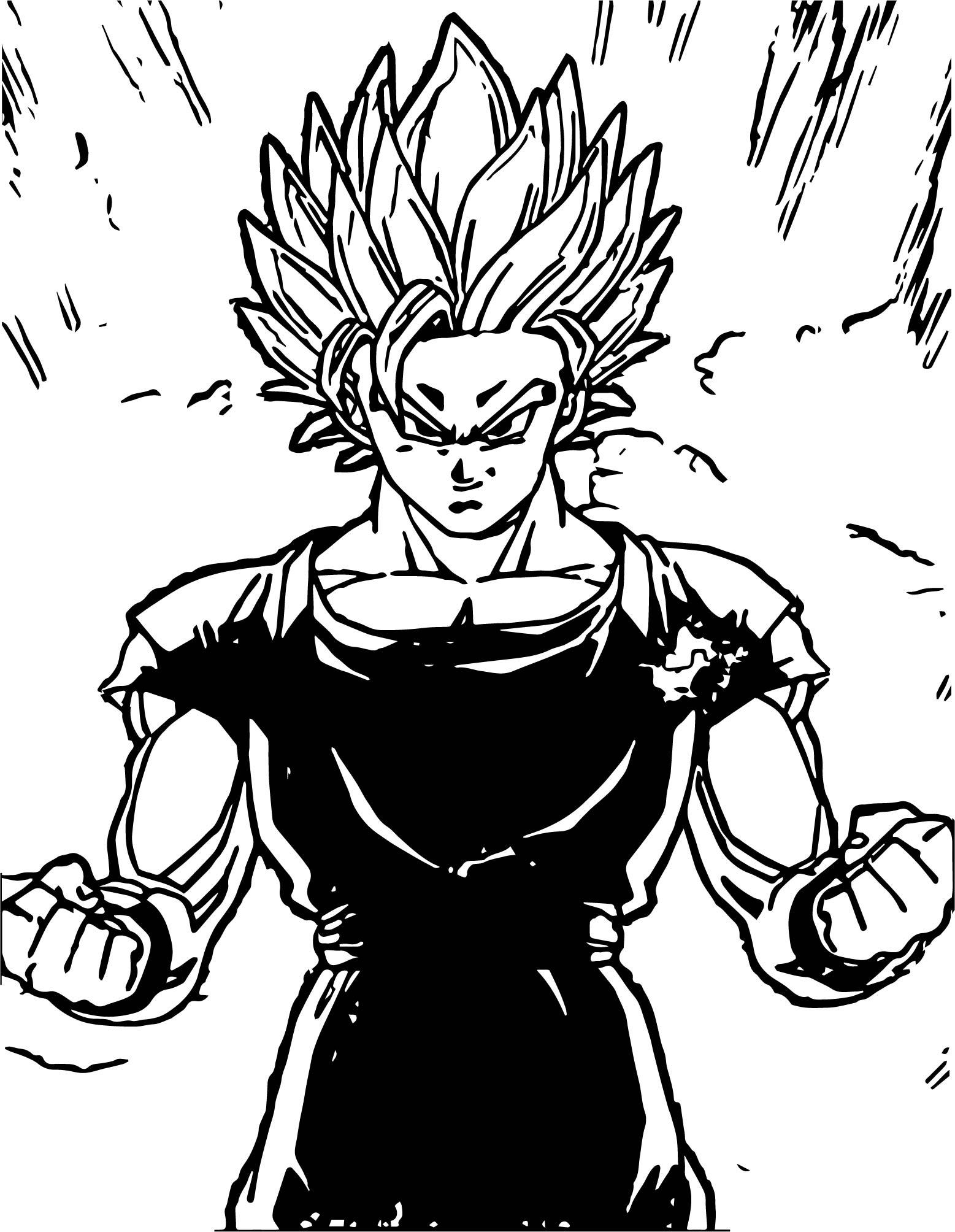 Goku Black Power Coloring Page