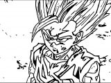 Goku Damage Coloring Page