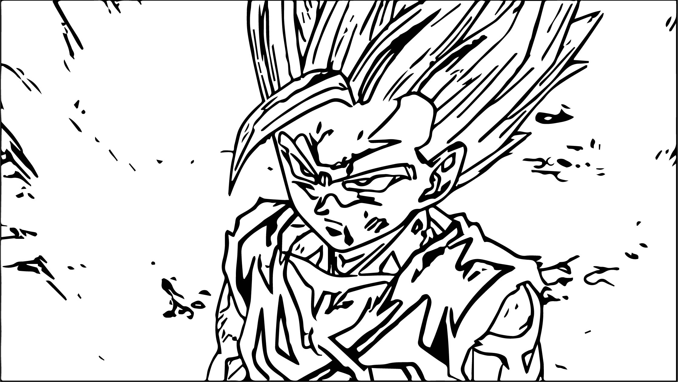 Goku Damage Coloring Page
