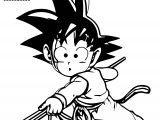 Goku Dragon Ball Kid Coloring Page
