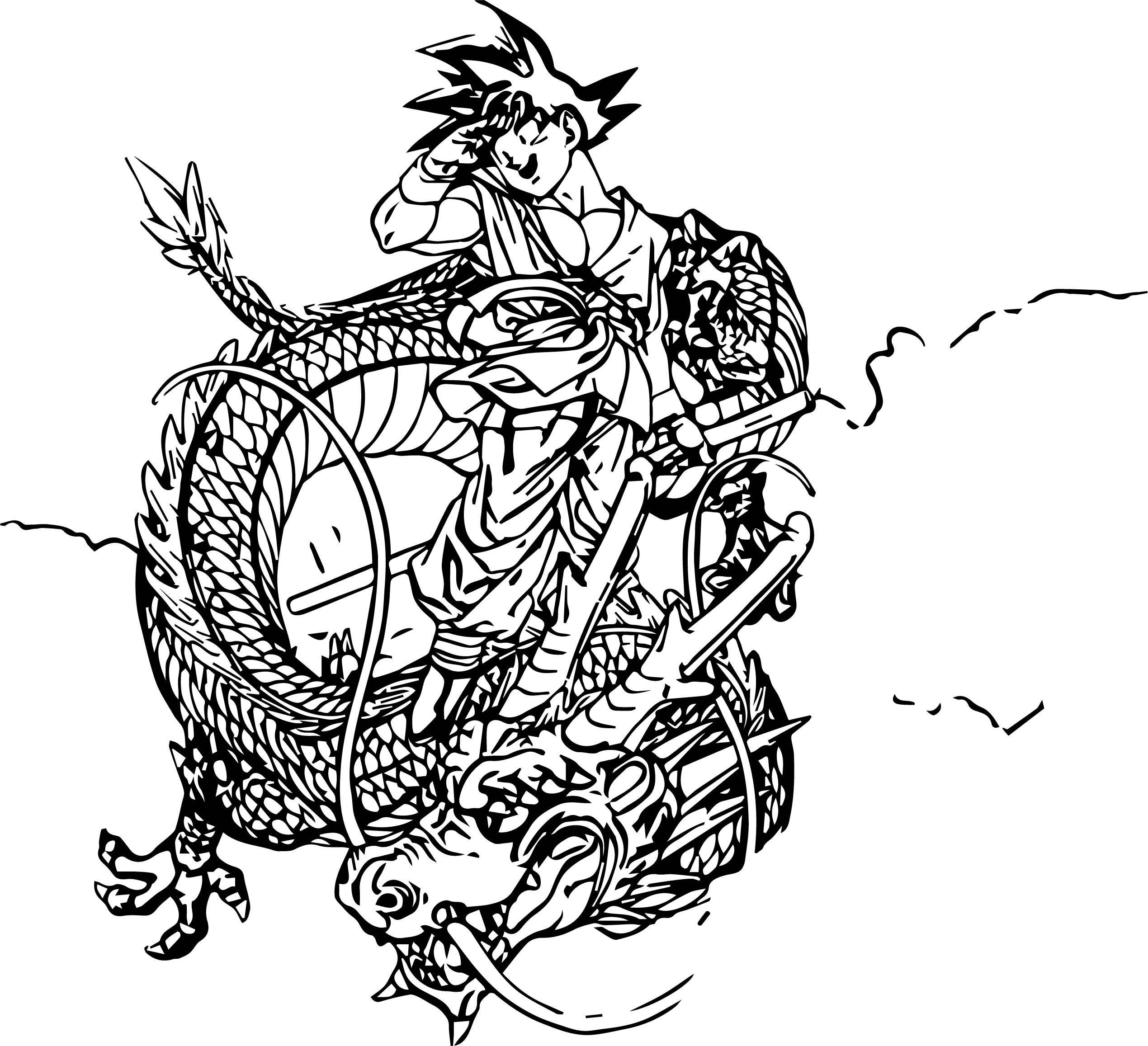 Goku Dragon Coloring Page