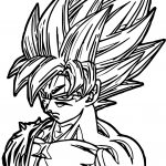 Goku Face Coloring Page