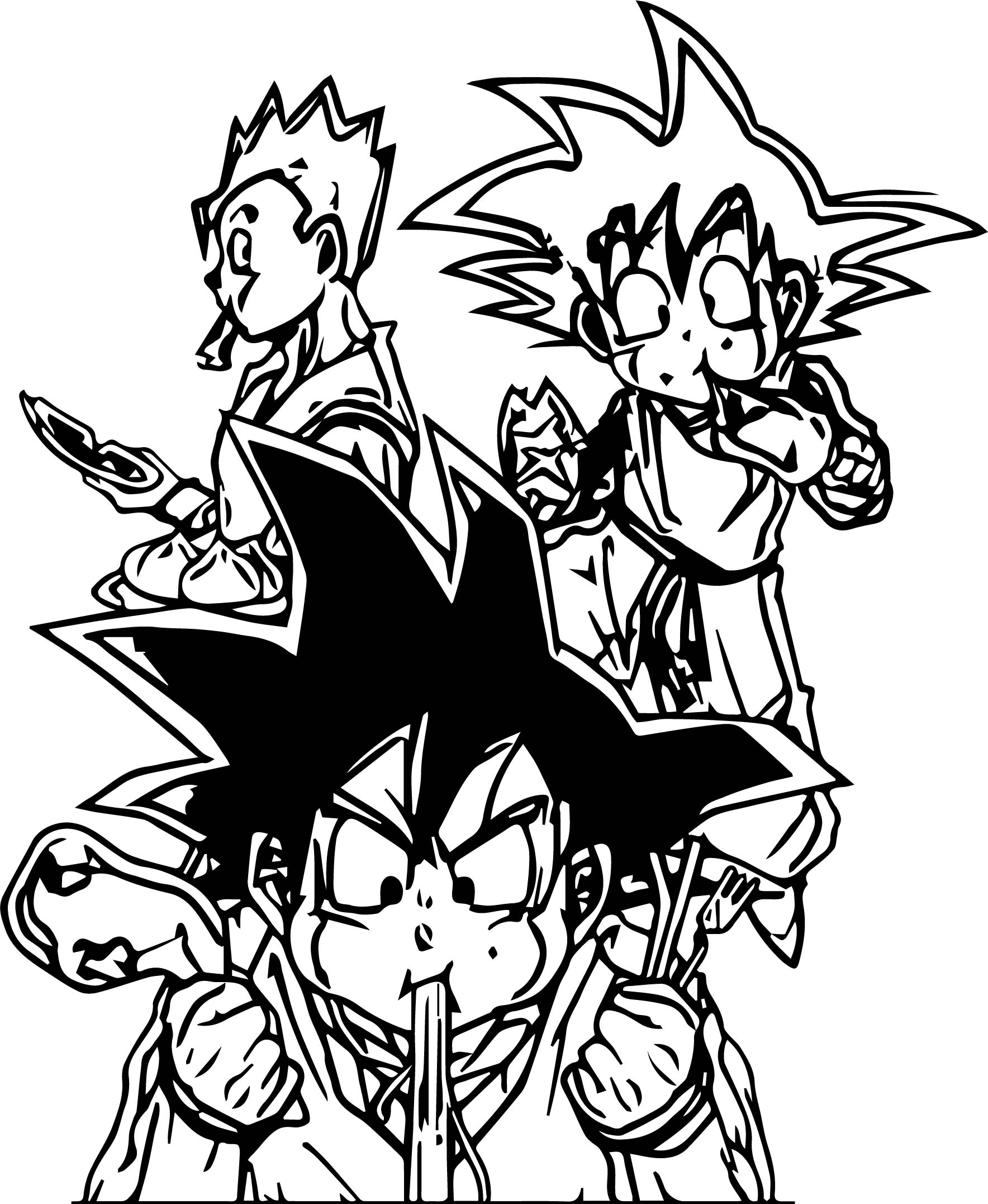 Goku Food Coloring Page