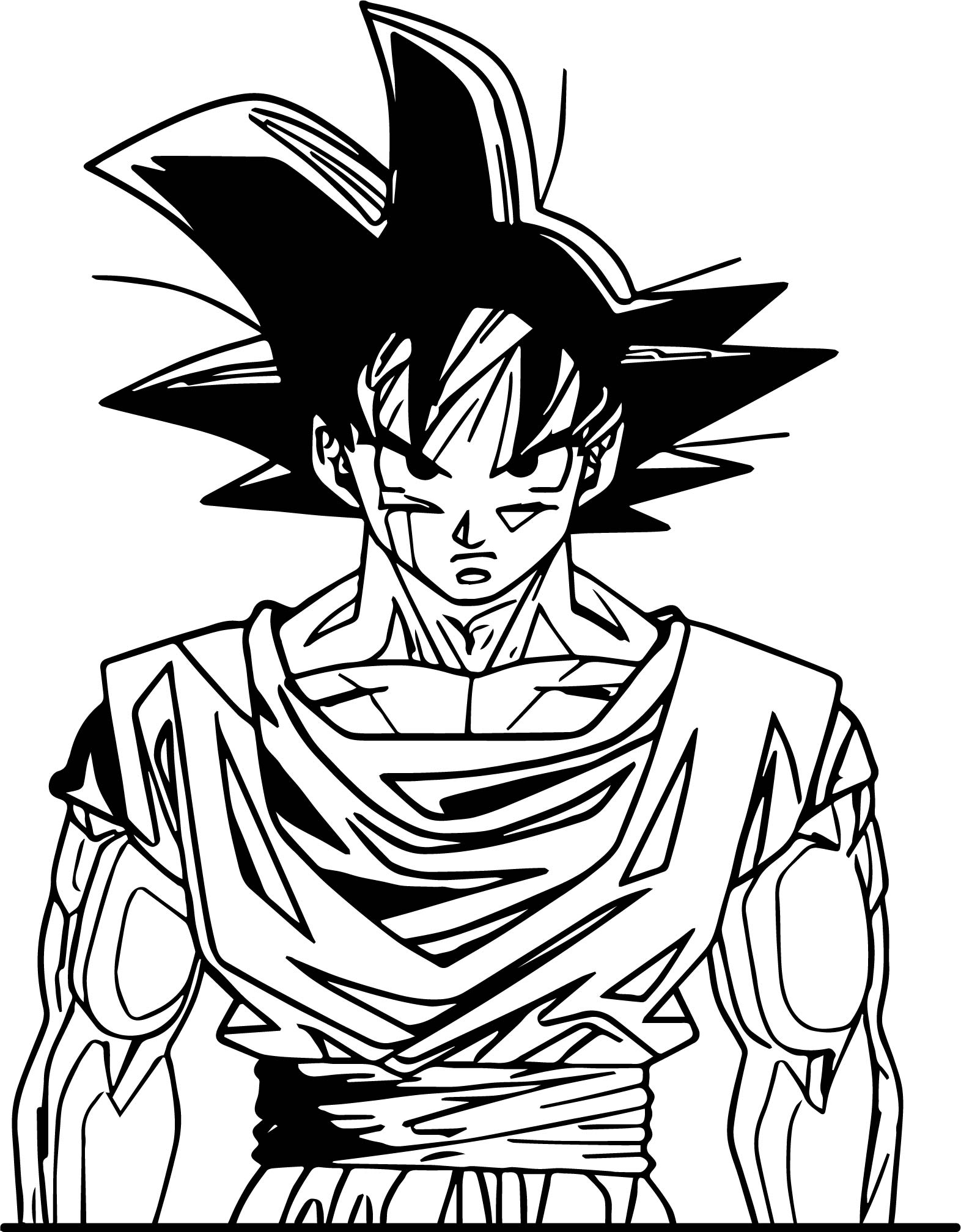 Goku Front View Coloring Page