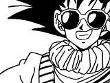 Goku Glasses Coloring Page