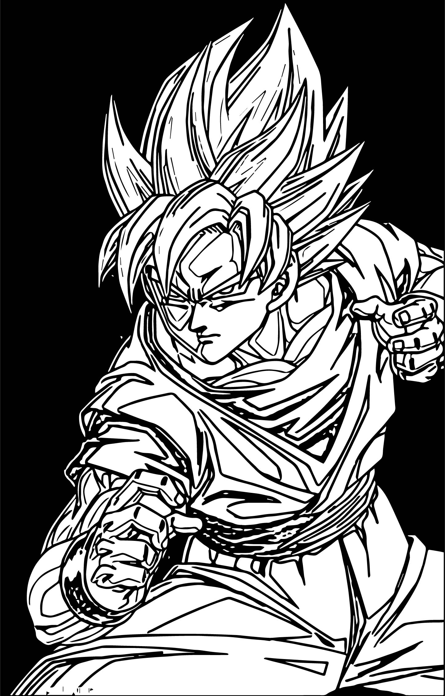 Goku Ready Coloring Page