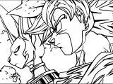 Goku Scene Coloring Page