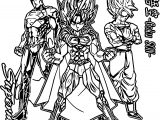 Goku Superman Coloring Page