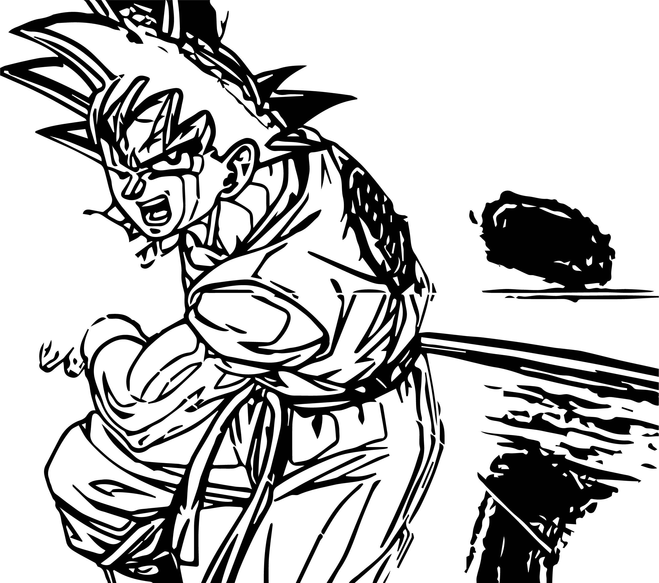 Goku White Power Coloring Page