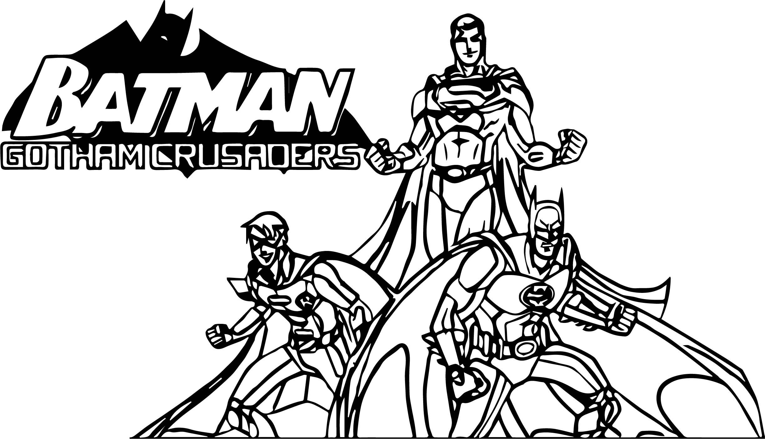 Gotham Crusaders Cover Batman Coloring Page