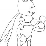 Grasshopper Cartoon Coloring Page