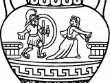 Grecian Urn Coloring Page