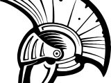Greece Ancient Helmet Coloring Page