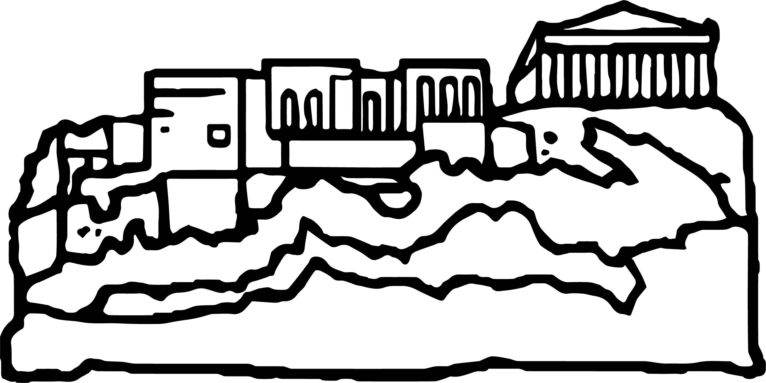 Greece Coloring Page