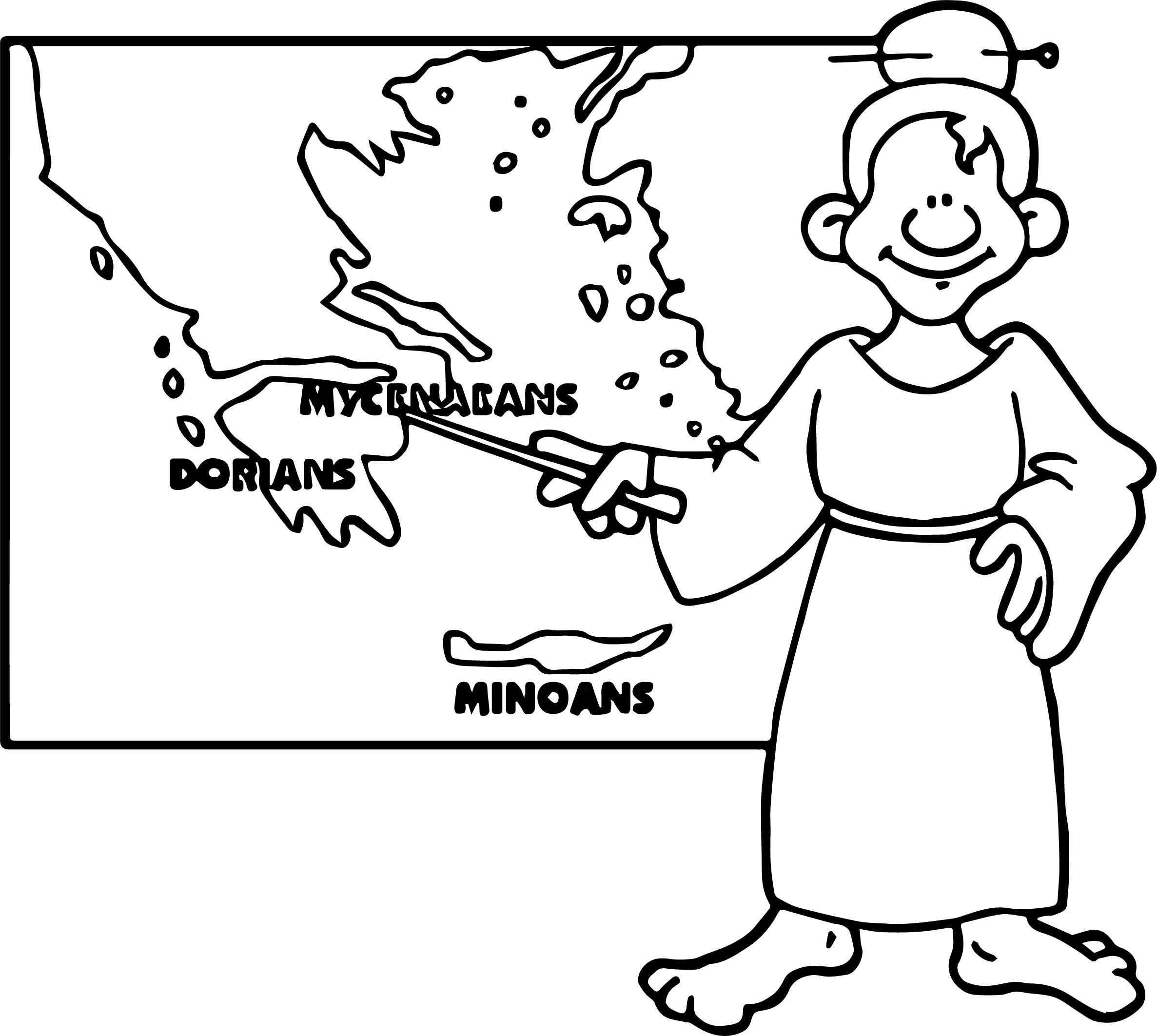Greece Early History Coloring Page