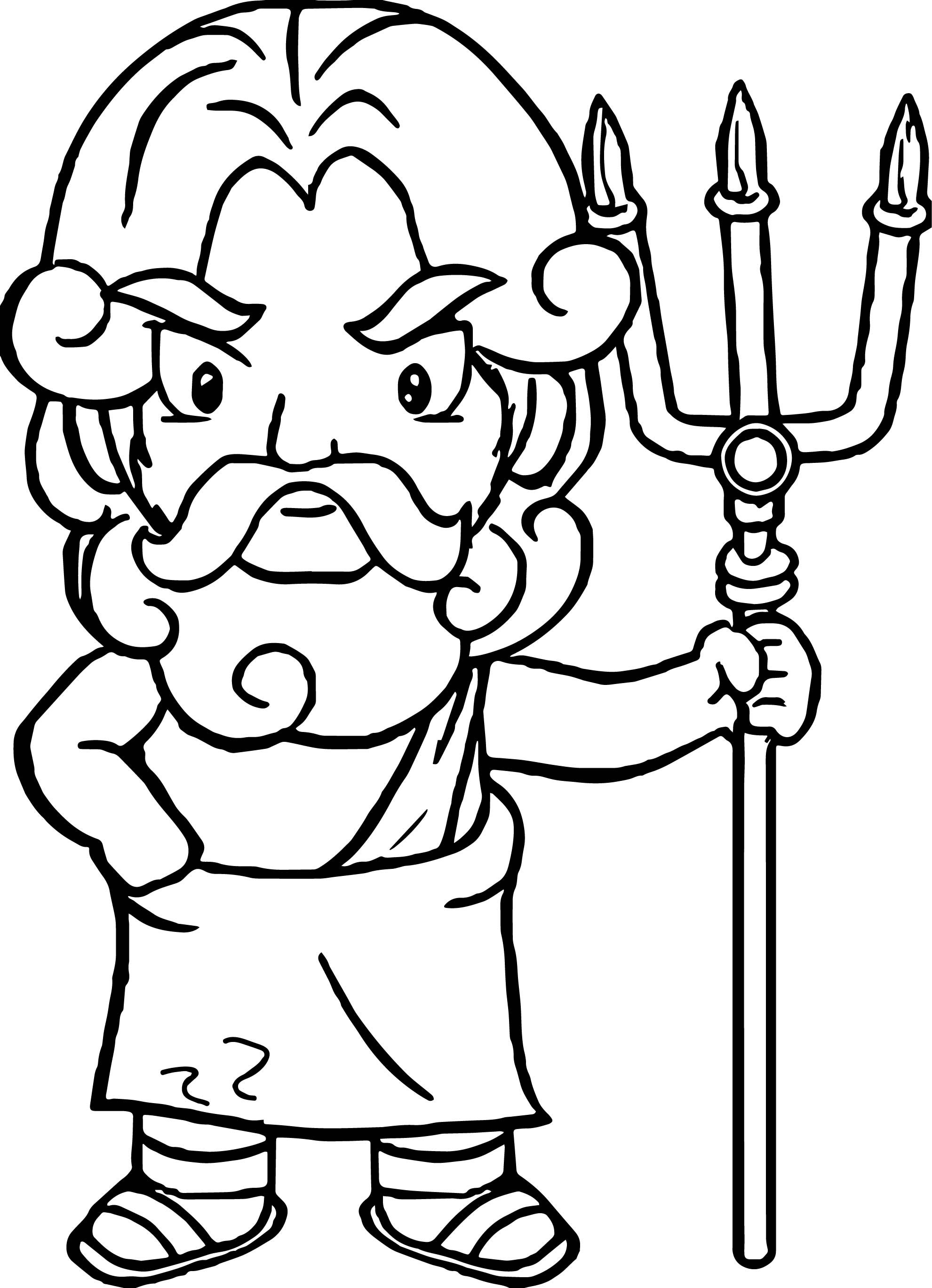 Greece god coloring page for Mount olympus coloring pages