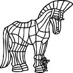 Greece Horse Coloring Page
